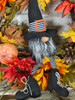 """Gnome Witch Stripe Hat Band and Leggings Shelf Sitter 17"""""""
