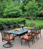"""Hanamint Tuscany Outdoor 42"""" x 76""""/100"""" Rectangular Extension Table"""