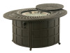 """Hanamint Mayfair Outdoor 39"""" x 52"""" Enclosed Oval Gas Fire Pit"""