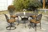Hanamint Tuscany Outdoor Dining Swivel Rocker
