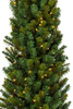 7.5' Pencil Darwin Pine Prelit Artificial Christmas Tree