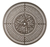 "Hanamint Bella Outdoor 60"" Inlaid Lazy Susan Table"