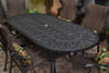 """Gensun Florence Outdoor 42"""" x 86"""" Oval Dining Table"""
