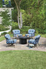Woodard Derby Outdoor Lounge Chair w/Cushions & Bolsters