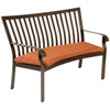 Woodard Cortland Outdoor Crescent Shaped Bench