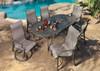 Gensun Bel Air Outdoor Sling High Back Dining Chair