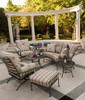 Woodard Terrace Outdoor Cushioned Crescent Loveseat
