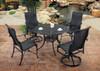 Gensun Michigan Outdoor Woven High Back Dining Chair