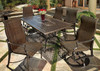 Gensun Bel Air Outdoor Woven High Back Dining Chair