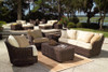 """Woodard Sonoma Outdoor Round Dining Base w/48"""" Glass Top"""
