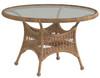 "Woodard Sommerwind Outdoor 48"" Round Umbrella Table w/Glass Top"