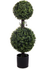 "34"" Artificial Boxwood Double Ball Topiary"