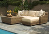 Woodard Saddleback Outdoor Left Arm Facing Loveseat Sectional