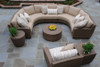 Woodard Saddleback Outdoor Curved Sectional Unit