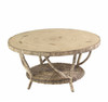 Woodard River Run Outdoor Round Cocktail Table w/Faux Birch Top