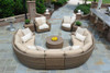 Woodard Saddleback Outdoor End Table