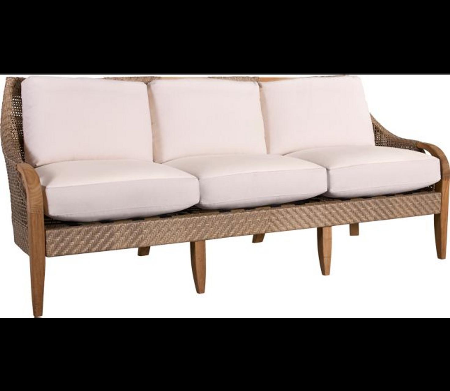 Lane Venture Edgewood Outdoor Teak and Synthetic Wicker Sofa - Trees ...
