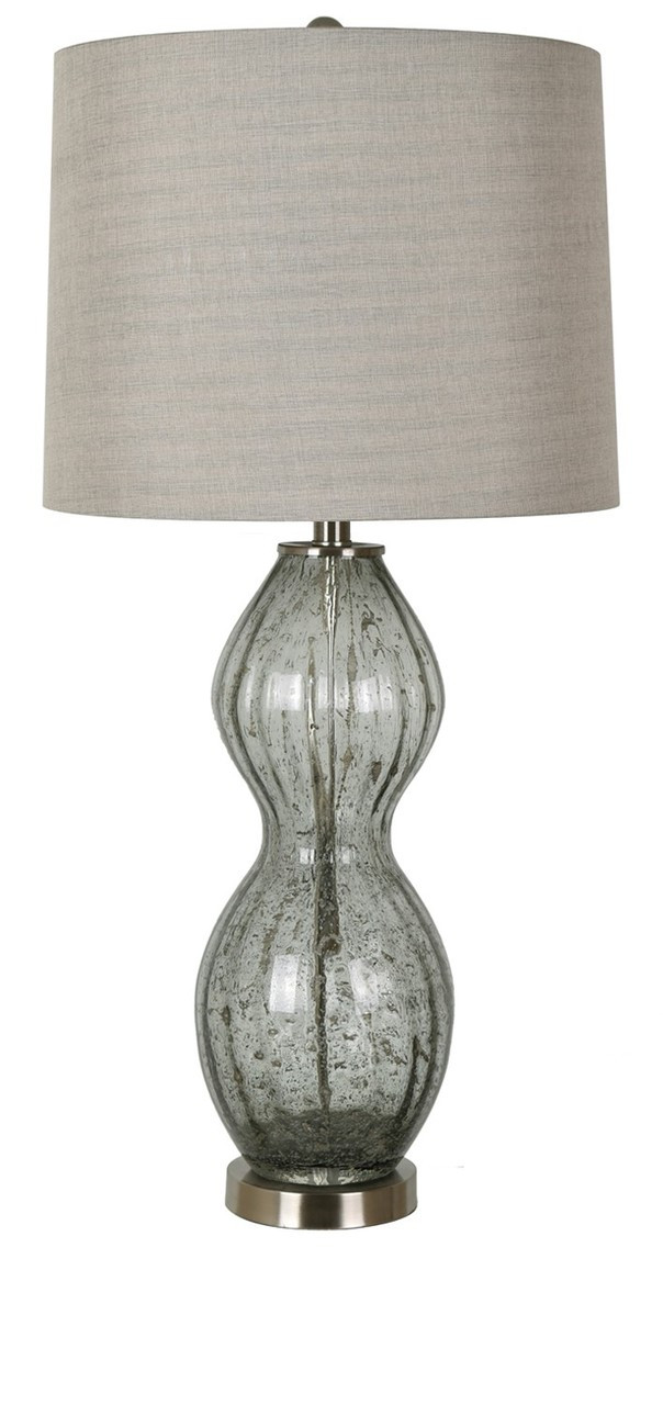 Crestview Grey Glass Table Lamp 31 With 3 Way Switch Trees N