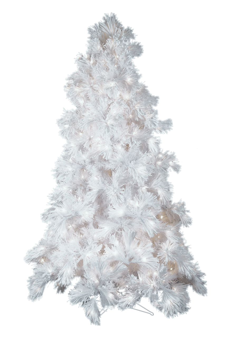 12 Glacier Long Needle White Pine Artificial Christmas Tree With Alwayslit Technology Trees N Trends Home Fashion More