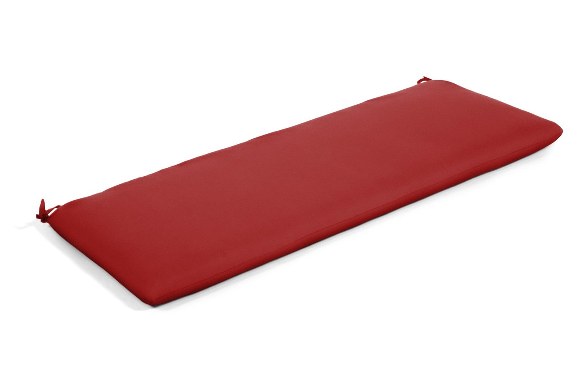 Quick Ship Sunbrella 48 Bench Cushion Canvas Jockey Red