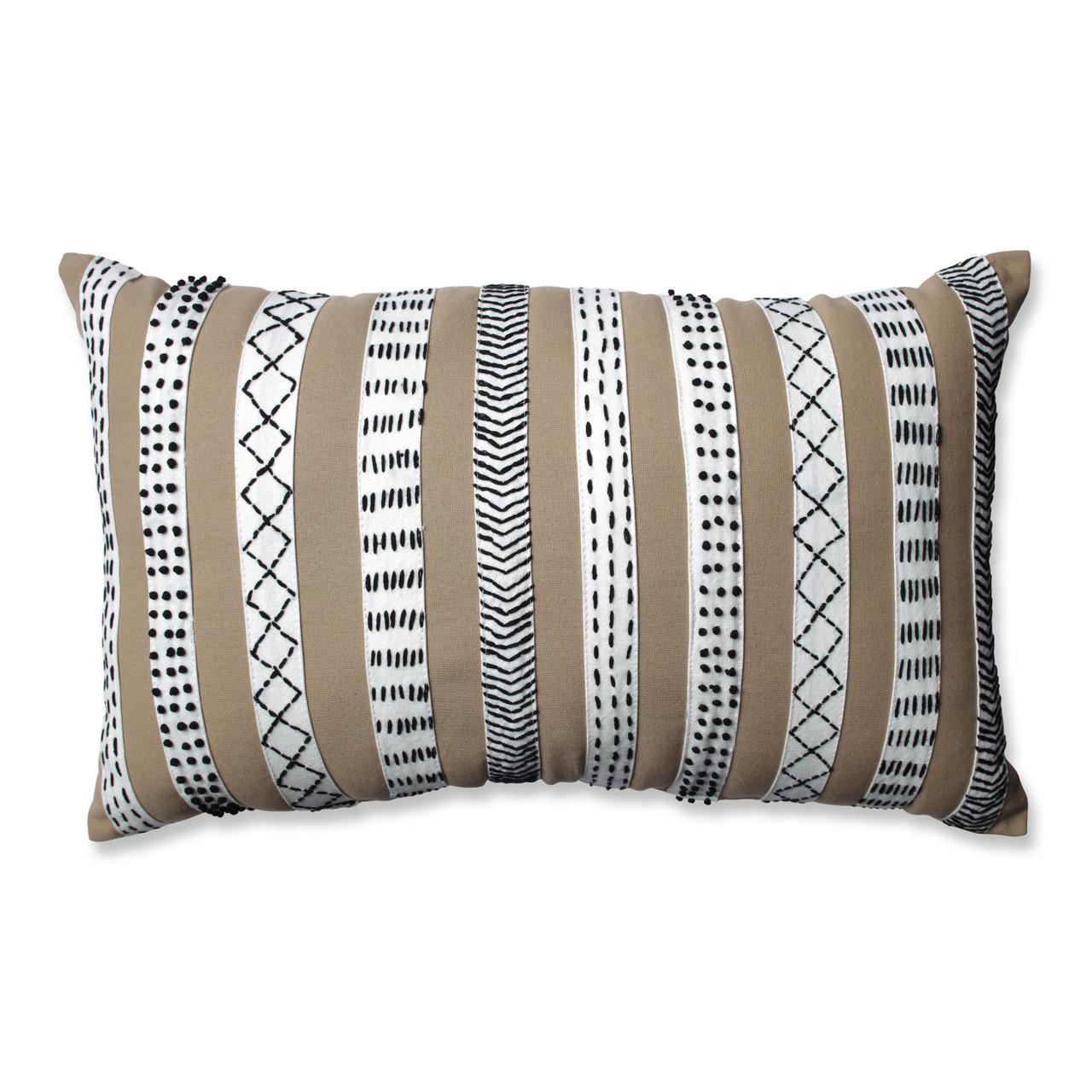 Pillow Perfect Tribal Bands Rectangular Throw Pillow Rust//Cream//Black