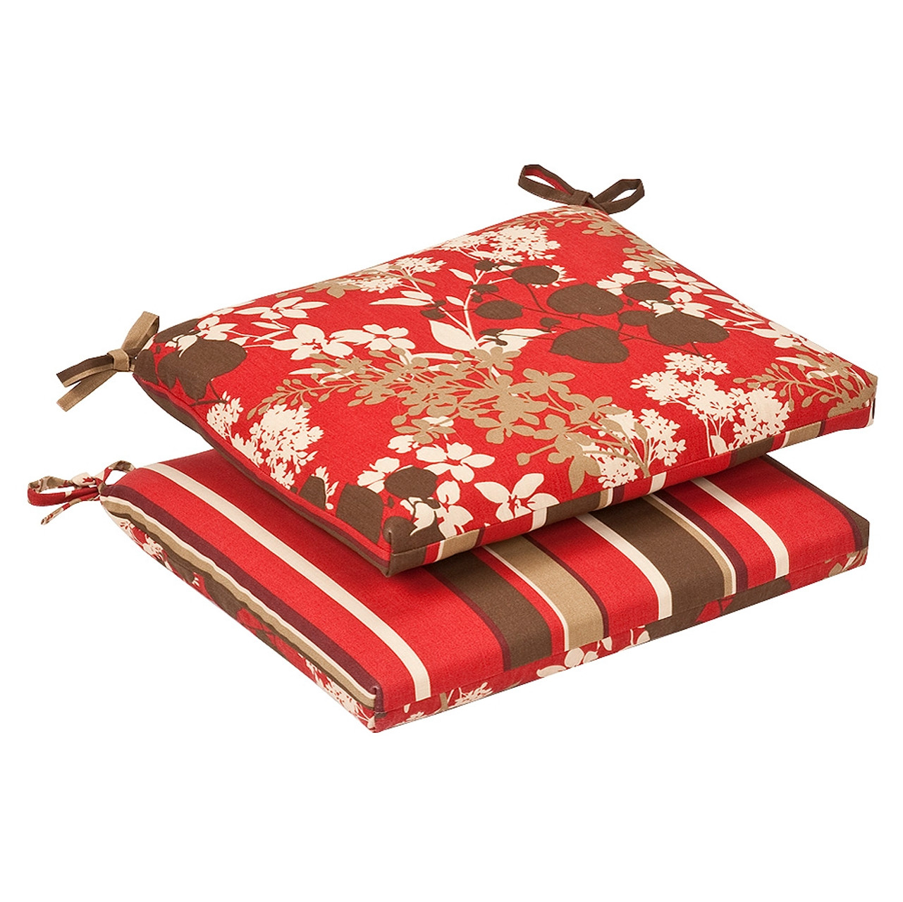Pillow Perfect Montifleuri Monserrat Reversible Squared Corners Seat Cushion Set Of 2 Trees N Trends Home Fashion More