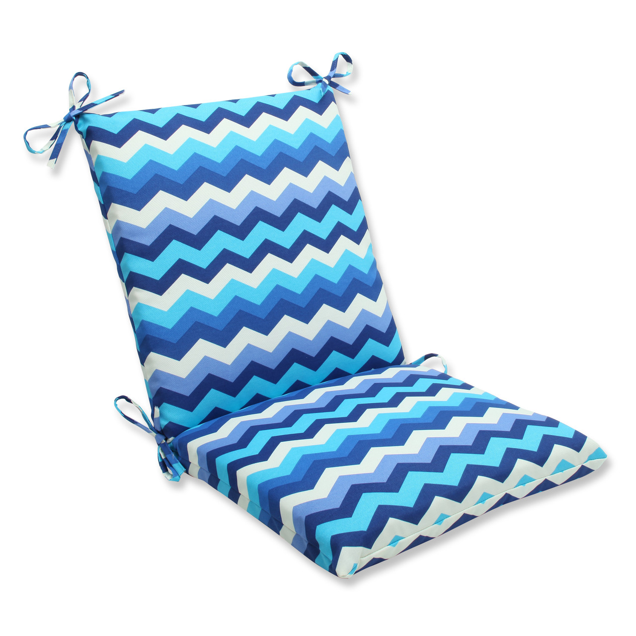 Pillow Perfect Panama Wave Azure Squared Corners Chair Cushion Trees N Trends Home Fashion More