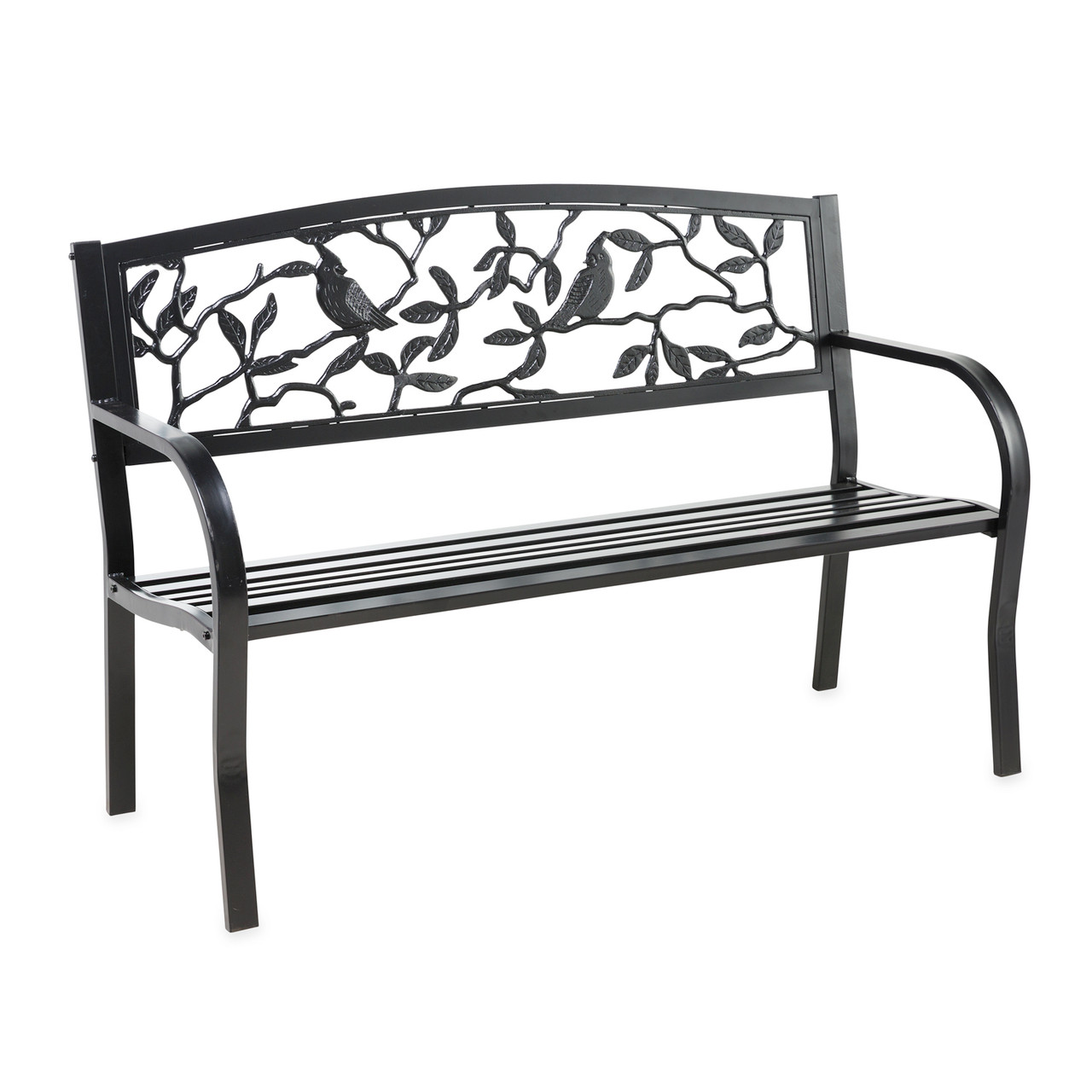 Picture of: Cardinals Metal Garden Bench Trees N Trends Home Fashion More