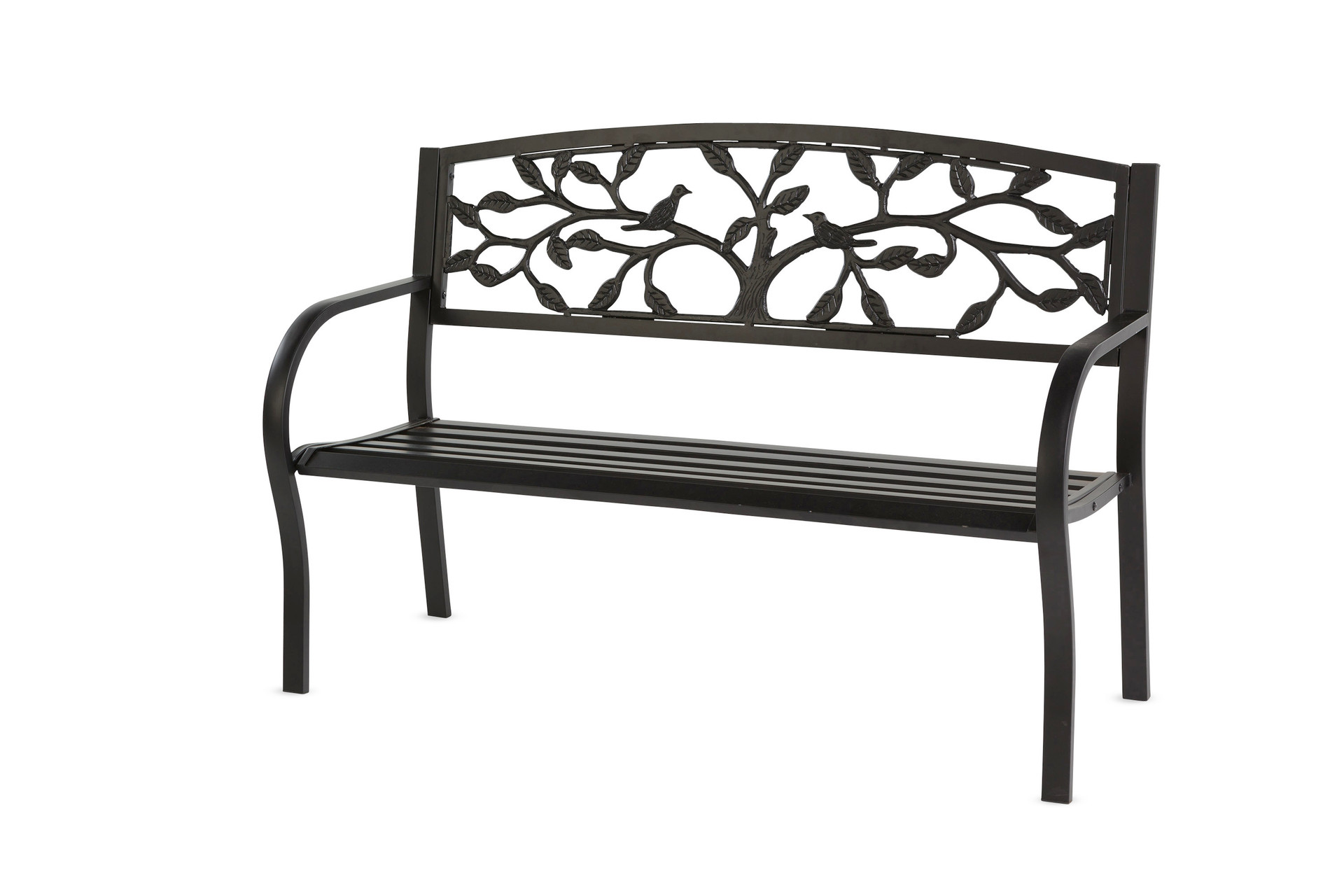 Picture of: Tree Of Life Metal Garden Bench Black Trees N Trends Home Fashion More