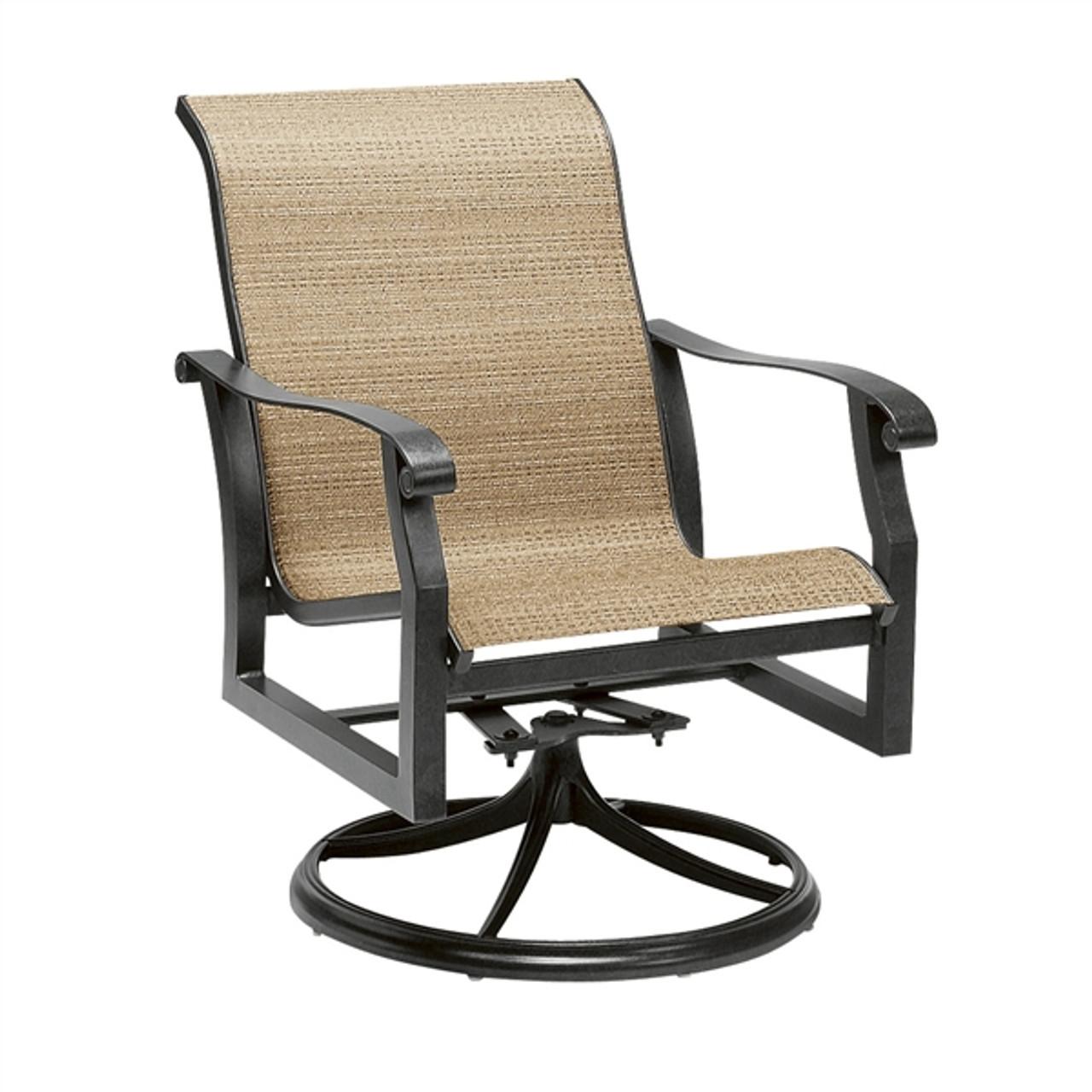 Woodard Sling Patio Furniture.Woodard Cortland Outdoor Sling Swivel Rocker