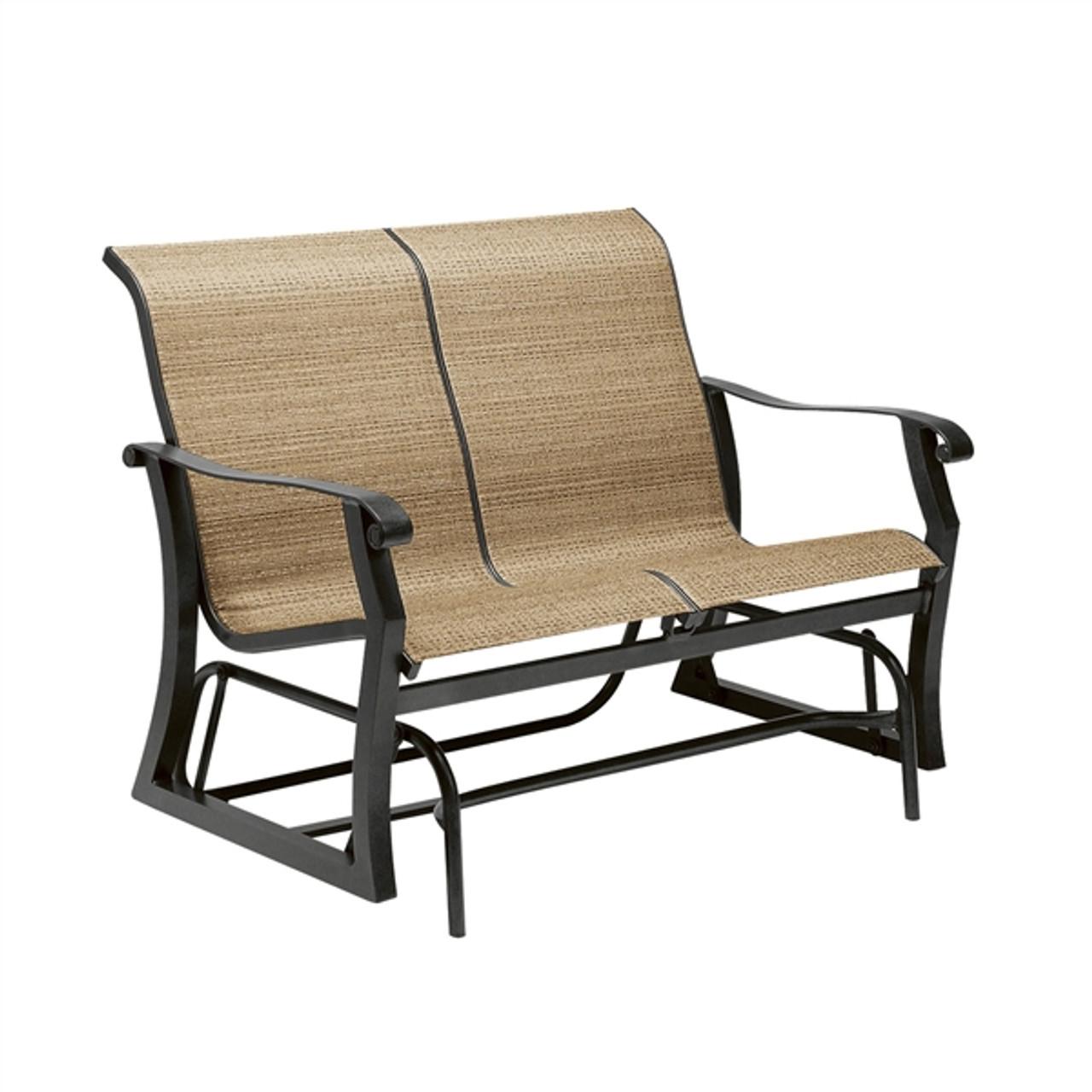 Woodard Sling Patio Furniture.Woodard Cortland Outdoor Sling Gliding Loveseat