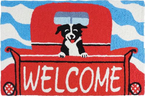 "Welcome Pup Jellybean Rug 21"" x 33"""