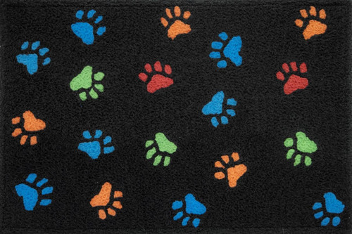 "Jellybean Paw Prints Rug 21"" x 33"""