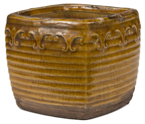 Swan Creek Vintage Brown Square Pot Roasted Expresso