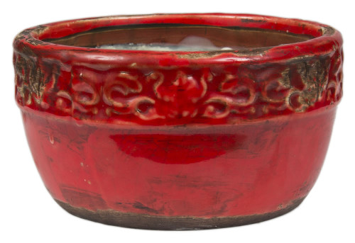 Swan Creek Vintage Red Round Bowl Spice Orange & Cinnamon