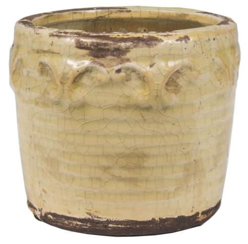 Swan Creek Vintage Pottery Ivory Pot Honey Soaked Apple
