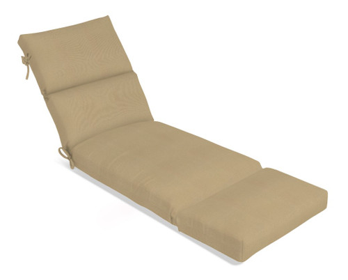 Aluminum Wood Series Large Chaise Cushion w/Ties 3380 (Ships 8-10 Weeks)