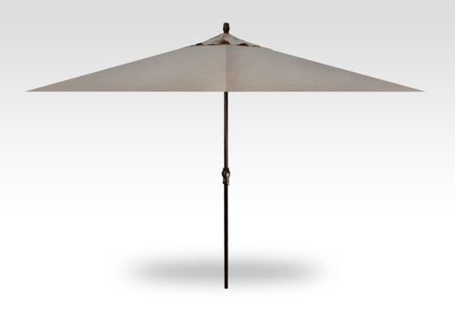 Treasure Garden 8' X 11'Rectangular No-Tilt Crank Lift Umbrella in Sunbrella Ash-Black finish