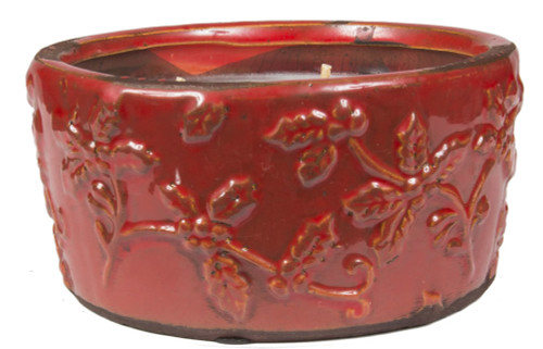 Swan Creek Holiday Pottery Bowl-Cherry Almond