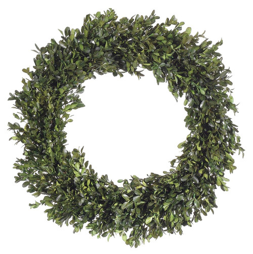 """22"""" Preserved Boxwood Wreath Green Pair"""