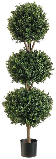 4ft Triple Ball Shape Boxwood Topiary in Plastic Pot