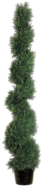 5ft Spiral Cedar Topiary in Plastic Pot