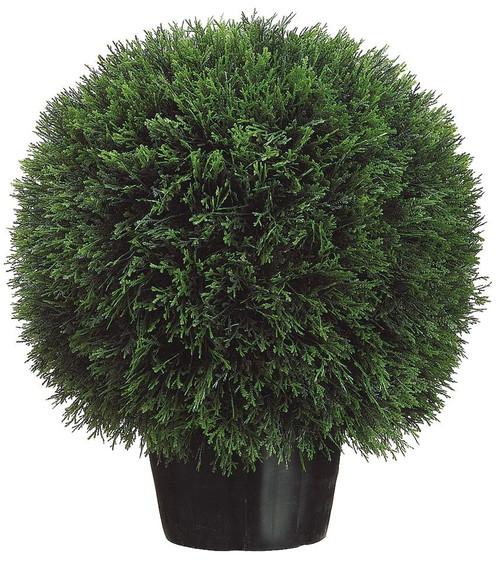 """20"""" Cedar Ball Topiary in Pot"""