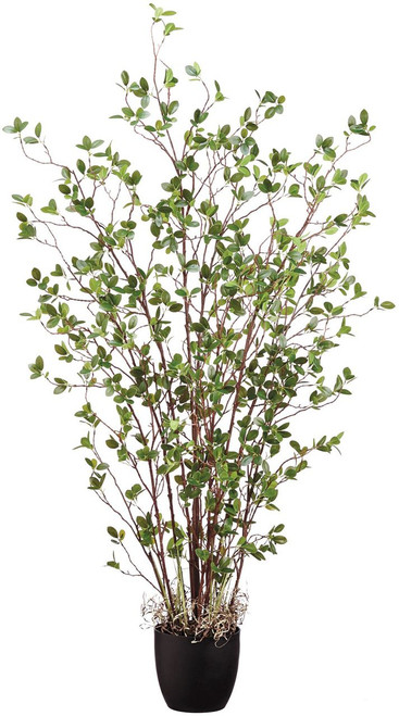 """60"""" Mini Leaf Plant in Green Pot"""