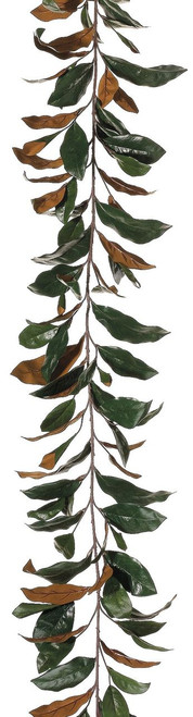 6ft Real Touch Magnolia Leaf Garland with 109 Leaves Box of 6