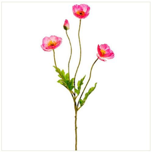 """23.6"""" Poppy Spray Pink Box of 12"""
