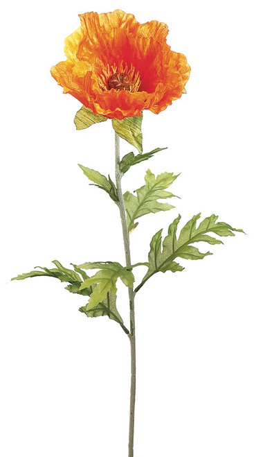 "28"" Poppy Spray Orange Box of 12"