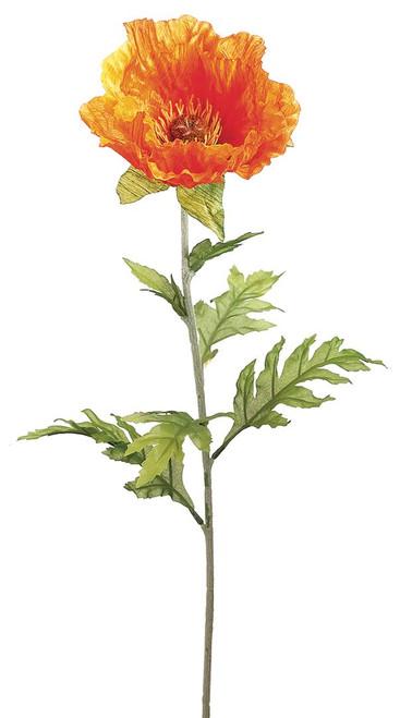 """28"""" Poppy Spray Orange Box of 12"""