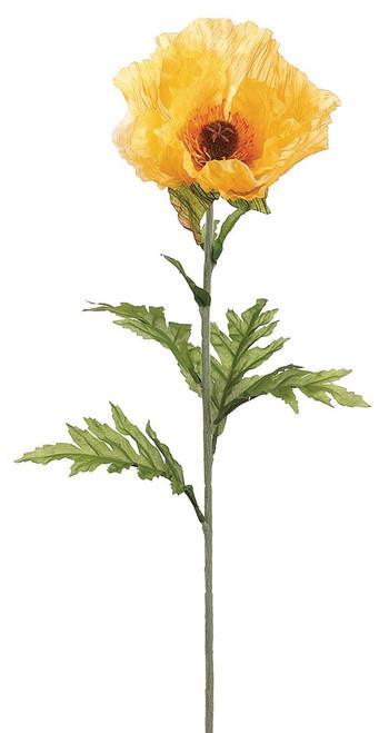 "28"" Poppy Spray Yellow Box of 12"