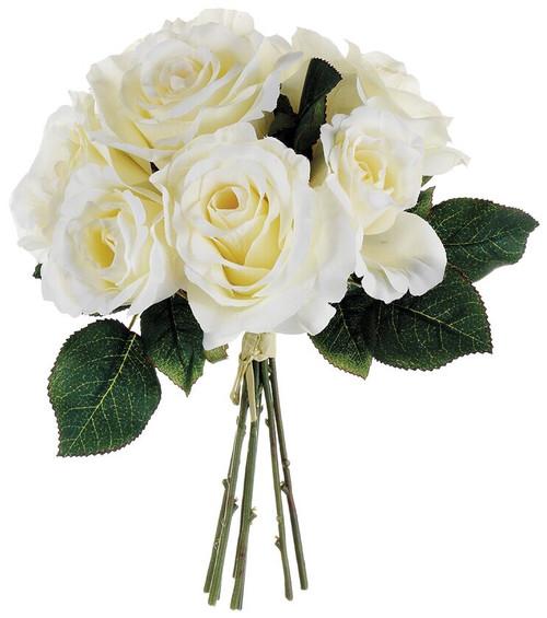 """11"""" Rose Bouquet Cream Box of 12"""
